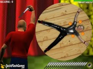 Flash-game-of-throwing-knives