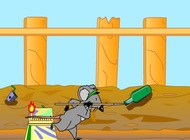 Javelin-throw-game-with-a-rat