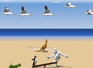 დაწყების-penguin-beach-yeti-sports-4