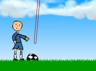 Jeu-de-lancer-un-ballon-de-football